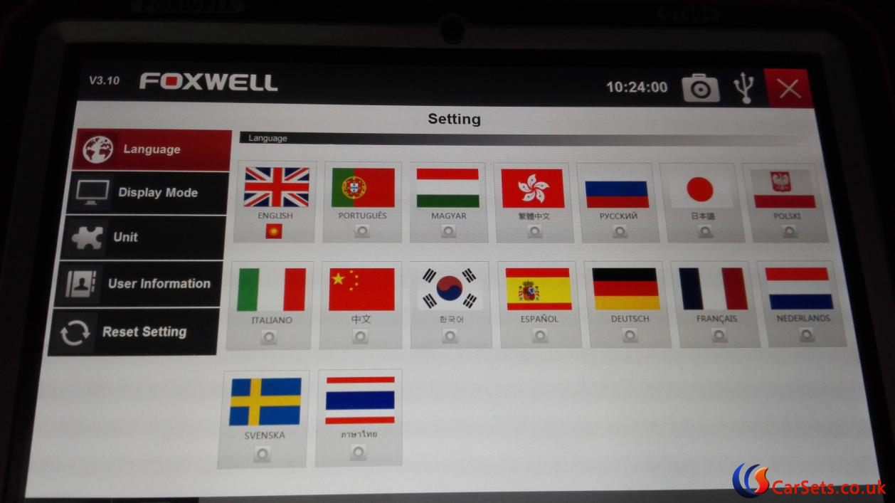 foxwell-gt80-plus-setting-menu